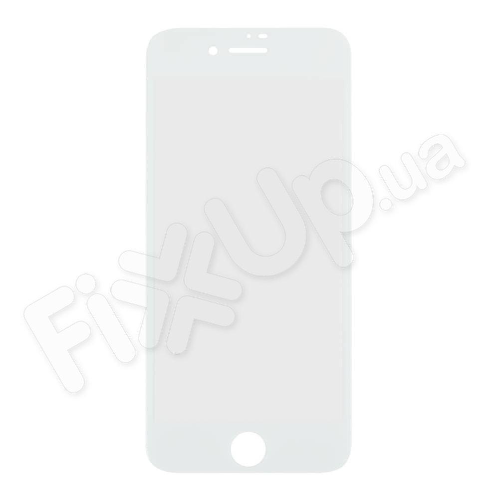 Защитное стекло для iPhone 7 (4.7), 8 (4.7), 3D 9H, цвет белый