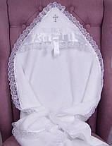 Набор для крещения Ангел серебро, крыжма и комбинезон с шапочкой, фото 2