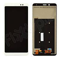 Дисплей для Xiaomi Redmi Note 5, Note 5 Pro с тачскрином в сборе, цвет белый, копия высокого качеств