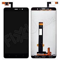 Дисплей Xiaomi Redmi Note 3, Note 3 Pro с тачскрином в сборе, 147мм, цвет черный