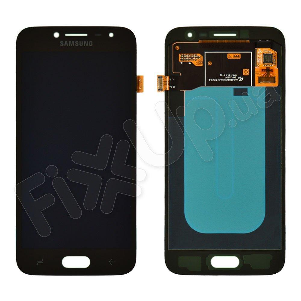 Дисплей для Samsung j250H DS Galaxy J2 (2018) с тачскрином в сборе, цвет черный, сервисный оригинал