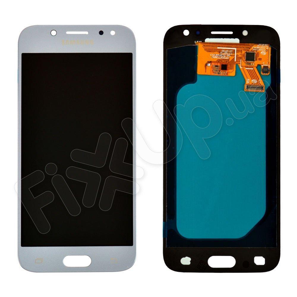 "Дисплей для Samsung J530F/DS Galaxy J5 (2017), 5"", с тачскрином в сборе, цвет серебро, OLED"