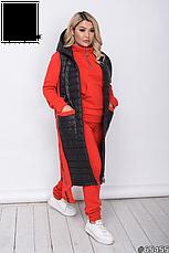 Костюм женский спортивный прогулочный теплый тройка размеры52-62, фото 3