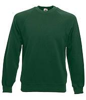 Свитшот Fruit of the Loom Classic raglan sweat L Темно-Зеленый 062216038L, КОД: 1664766