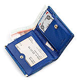 Кошелек женский ST Leather 18356 (S1101A) кожаный Синий, фото 3