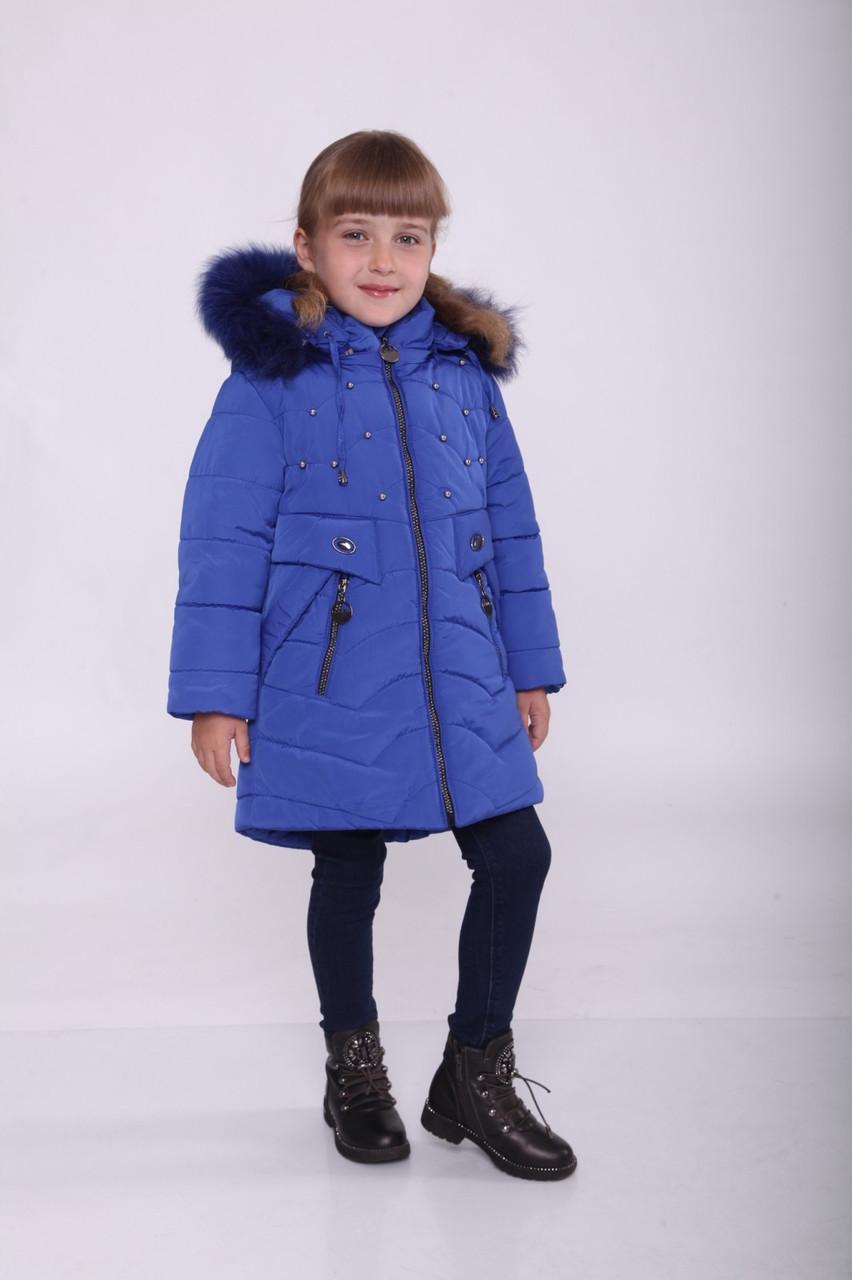 Пальто на девочку зимнее от производителя 24-30 синий