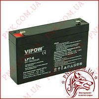 Аккумулятор гелиевый Vipow 6V 7Ah (BAT0207)