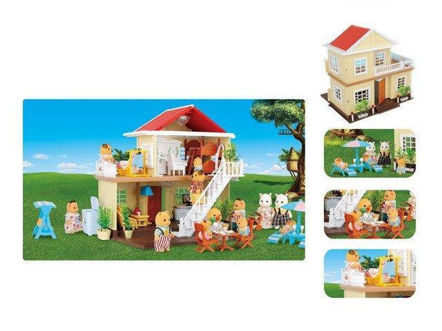 Игровой домик Животные флоксовые Happy Family с мебелью