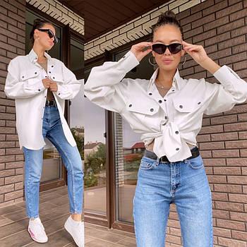 Женская стильная рубашка в расцветках (Норма)