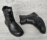 42р. Зимові чоловічі напівчоботи черевики на блискавці (СДБ-20ч), фото 2