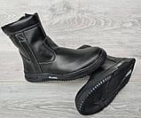 42р. Зимові чоловічі напівчоботи черевики на блискавці (СДБ-20ч), фото 5