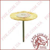 Щетка металлическая торцовая, диаметр 40мм, на валу 3мм.
