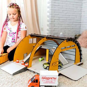 Игрушечный гараж-ангар с роллетами NestWood