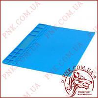 Килимок для пайки 405х305 мм термостійкий мат, силіконовий килимок з магнітними осередками