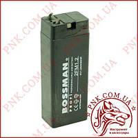 Акумулятор свинцево-кислотний Bossman 4v 1.3 a (75*49*21)
