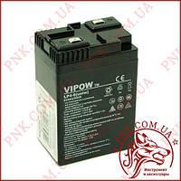 Акумулятор гелієвий Vipow 6V 4Ah універсальний (BAT0204)