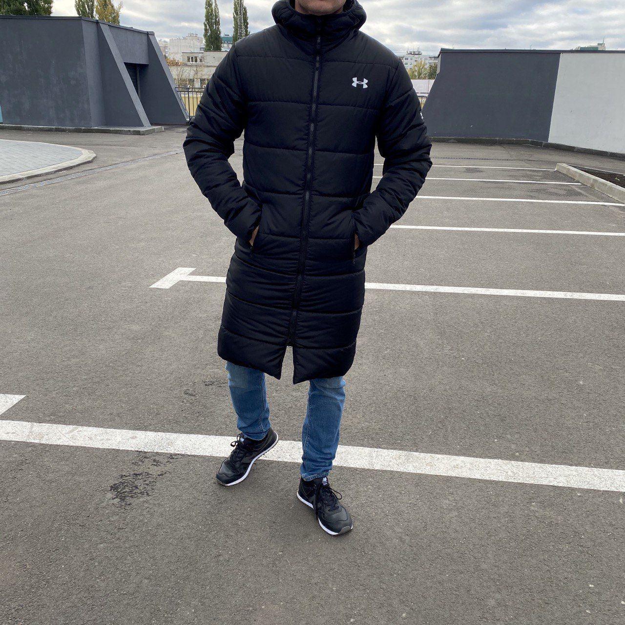 Подовжена зимова чоловіча куртка, пальто Warmth
