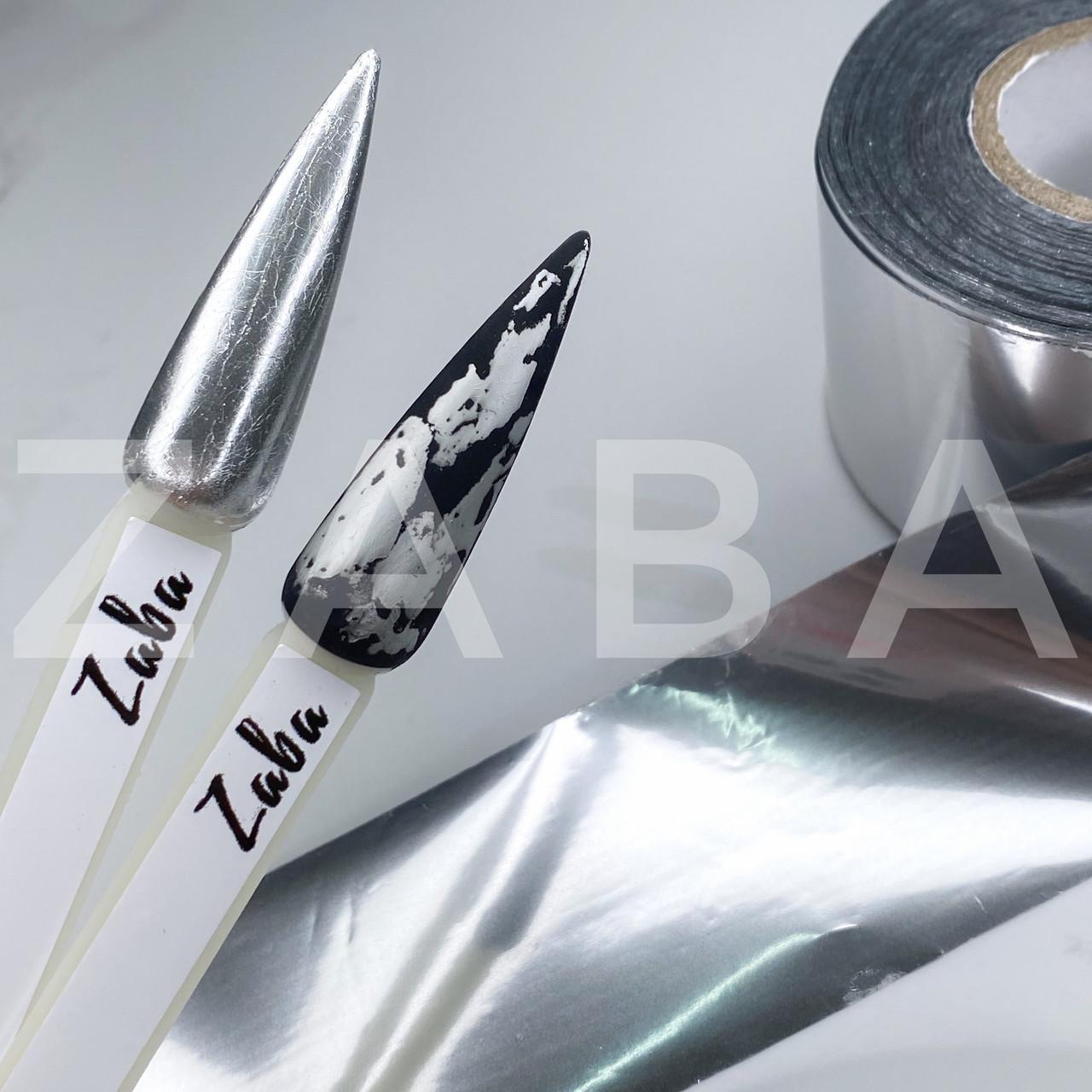 Фольга переводная Серебро, 100 см