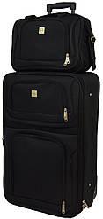 Комплект чемодан и кейс Bonro Best (маленький). Цвет черный.