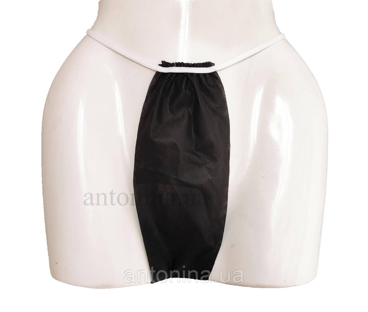 Трусики одноразові жіночі, M/L, 50 шт/уп, чорні