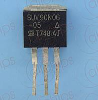 MOSFET N-Канал 60В 90А Vishay SUV90N06-05 TO262 б/у