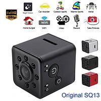 Мини камера Wi-Fi Мини видеокамера Original SQ13 Black + Аквабокс