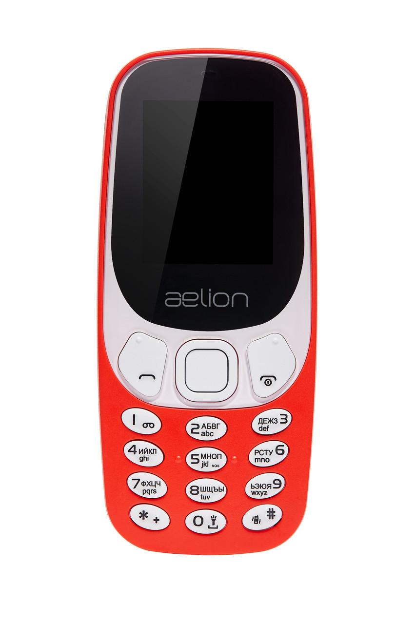 Кнопковий мобільний телефон Aelion A300 Red бюджетний телефон недорого дешево