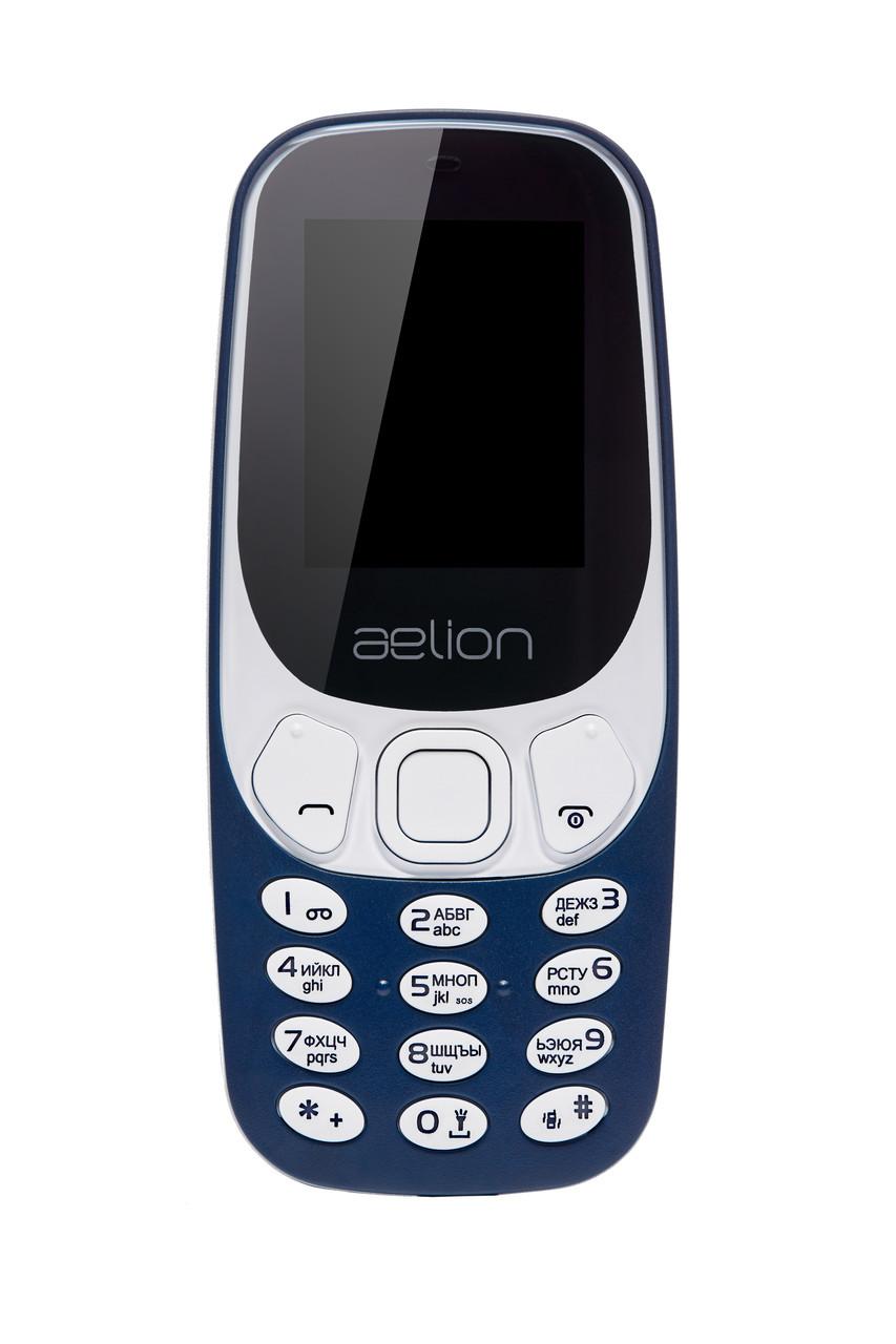 Кнопковий мобільний телефон Aelion A300 Blue бюджетний телефон недорого дешево