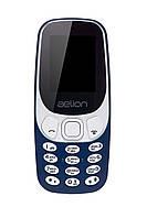 Кнопковий мобільний телефон Aelion A300 Blue бюджетний телефон недорого дешево, фото 1
