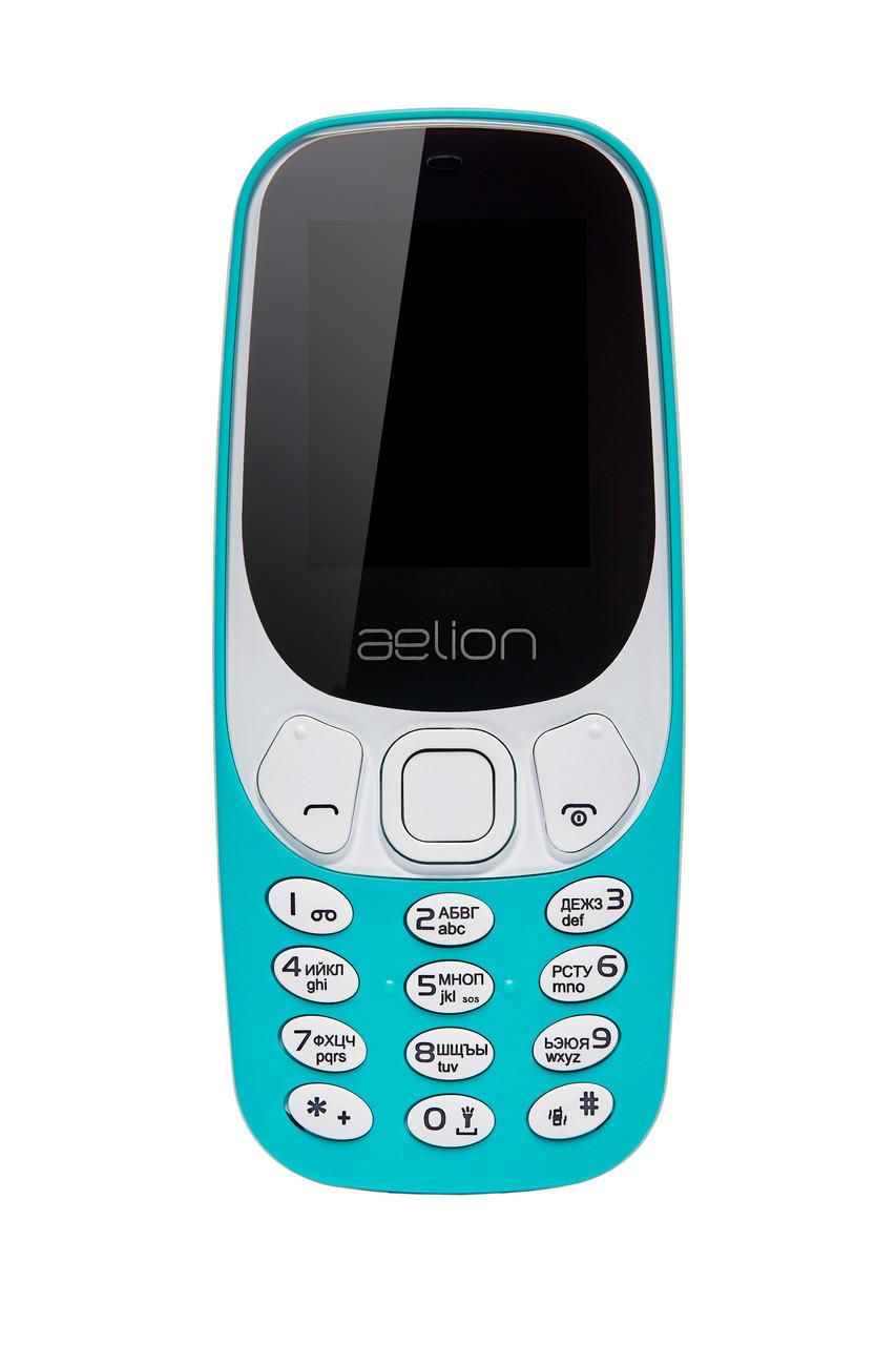 Кнопочный мобильный телефон Aelion A300 Green бюджетный телефон недорого дешево