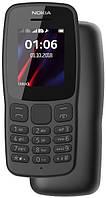 Кнопковий мобільний телефон Nokia 106 New 2018 Dual Sim Grey бюджетний телефон недорого дешево