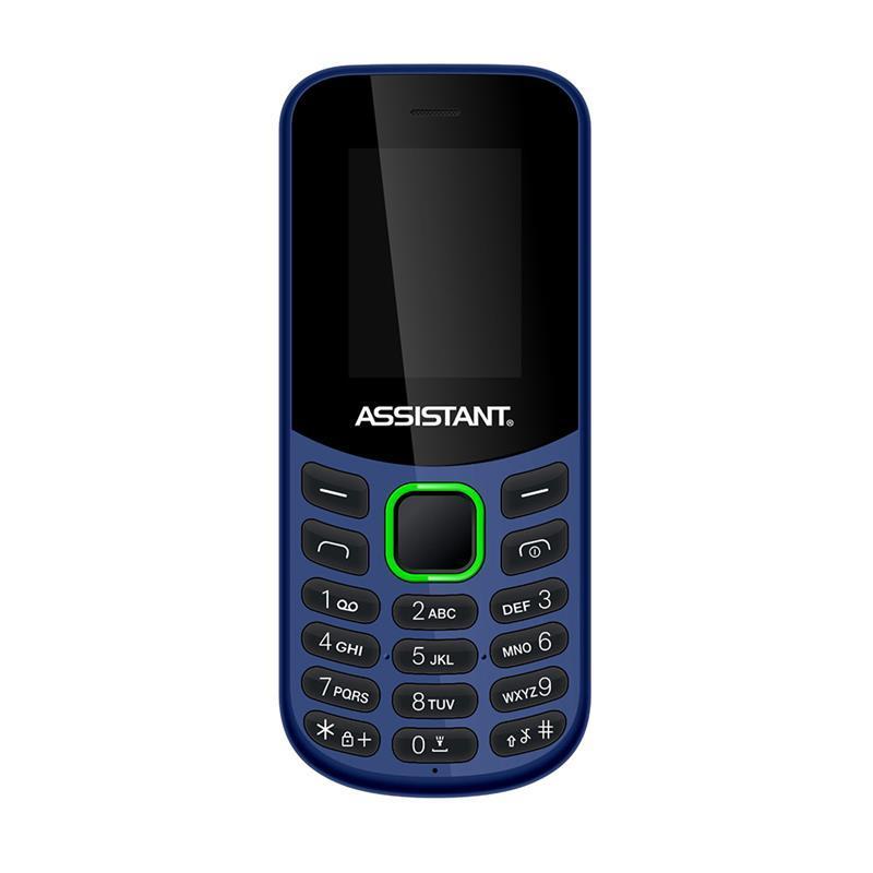 Кнопковий мобільний телефон Assistant AS-101 Dual Sim Blue бюджетний телефон недорого дешево