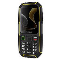 Защищенный противоударный кнопочный телефон  Sigma X-treme ST68 Black Yellow