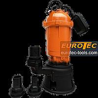 Фекальний насос з подрібнювачем Erman V750F, дренажно фекальний насос для вигрібних ям, насос для брудної води