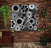 Мобильная картина-постер (гобелен) на ткани с 3D с принтом Механика Детали