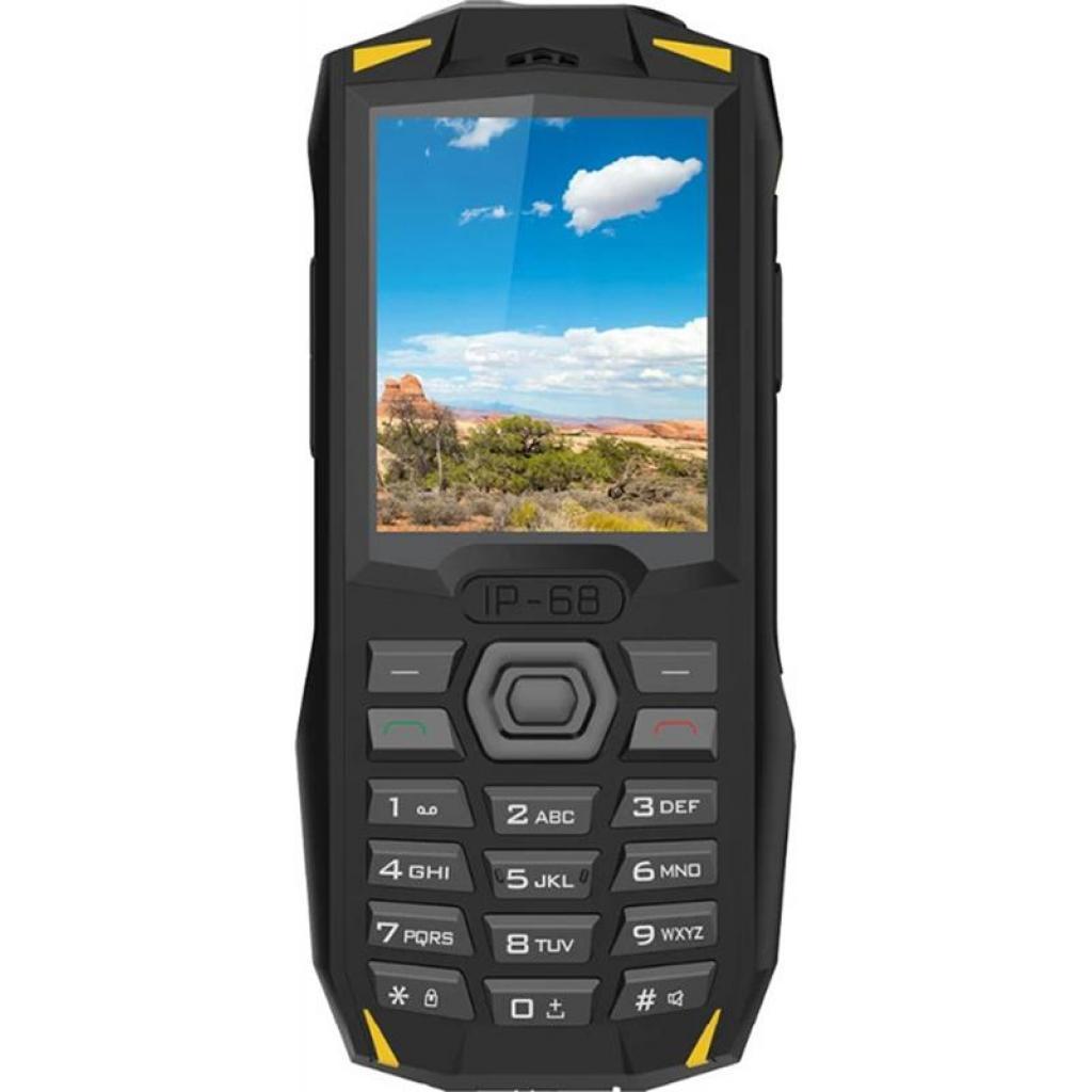 Защищенный противоударный кнопочный телефон  Blackview BV1000 Black Yellow