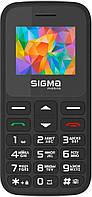 Мобильный телефон бабушкофон Sigma mobile Comfort 50 HIT2020 Black громкий простой бюджетный телефон крупные кнопки и шрифт