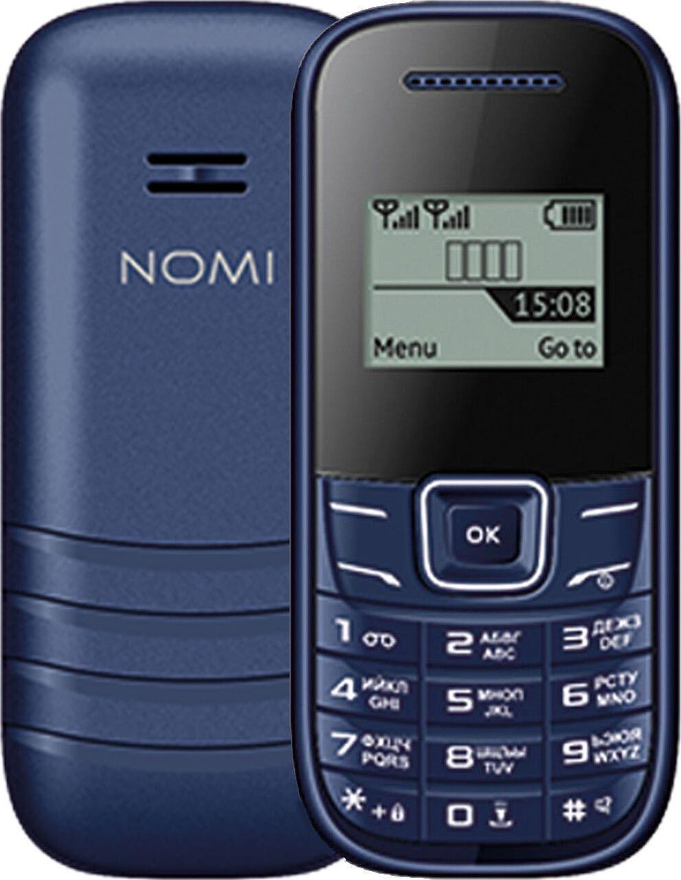 Кнопочный мобильный телефон Nomi i144m Blue бюджетный телефон недорого дешево