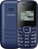 Кнопочный мобильный телефон Nomi i144m Blue бюджетный телефон недорого дешево, фото 1