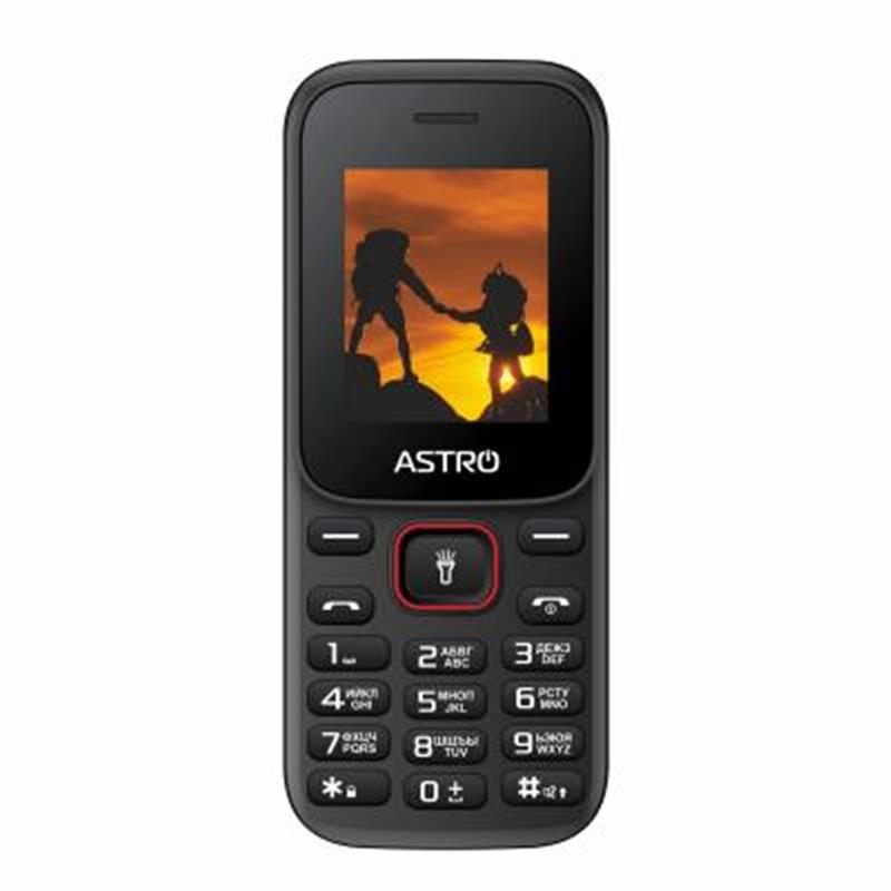 Кнопочный мобильный телефон Astro A144 Dual Sim Black/Red бюджетный телефон недорого дешево