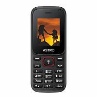 Кнопочный мобильный телефон Astro A144 Dual Sim Black/Red бюджетный телефон недорого дешево, фото 1