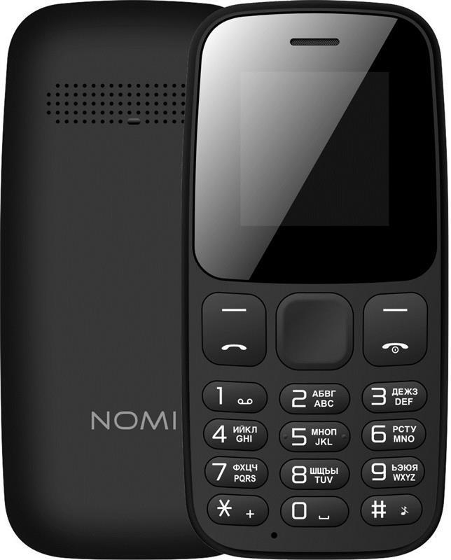 Кнопковий мобільний телефон Nomi i144c Dual Sim Black бюджетний телефон недорого дешево