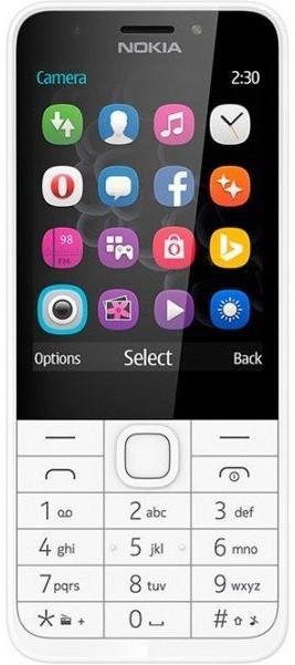 Кнопковий мобільний телефон Nokia 230 Dual Sim Silver (6260265)