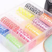 """Набор фольги """"LV"""" для дизайна ногтей (10 шт)"""