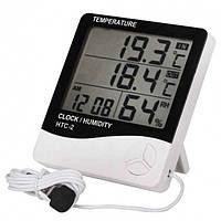 Термометр гигрометр цифровой с выносным датчиком HTC-2, фото 1