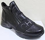 Ботинки кожаные женские большого размера от производителя модель МИ5261-9Р, фото 2