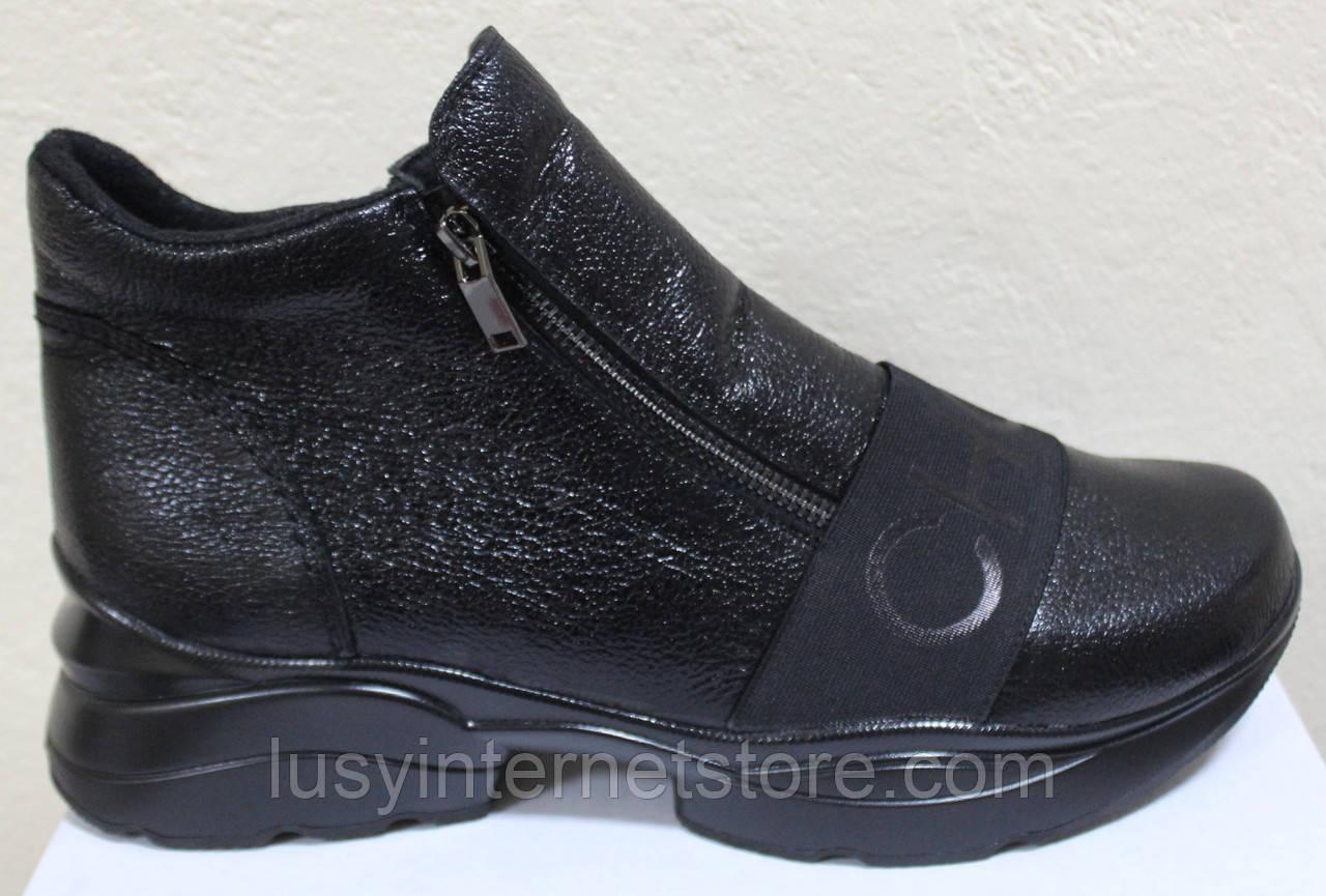 Ботинки кожаные женские большого размера от производителя модель МИ5261-9Р