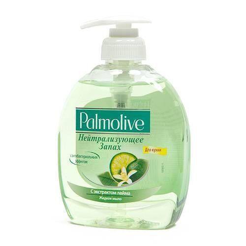 Жидкое крем мыло PALMOLIVE лайм нейтрализатор запаха 300мл с дозатором