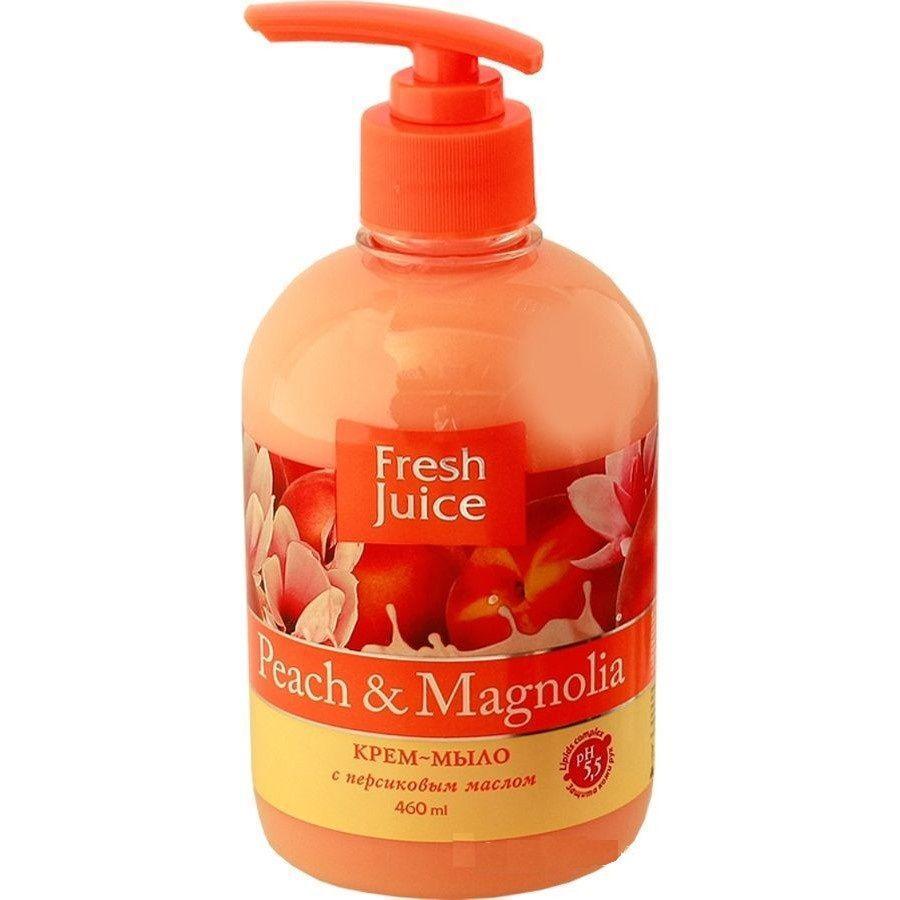 Жидкое крем мыло Fresh Juice персик+магнолия 460г с дозатором