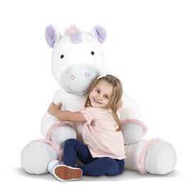 Большой плюшевый Единорог Джамбо мягкая игрушка ТМ Melissa & Doug MD30415
